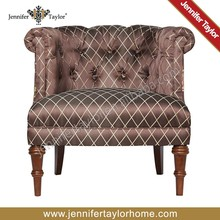 latest design accent fabric tufted chair
