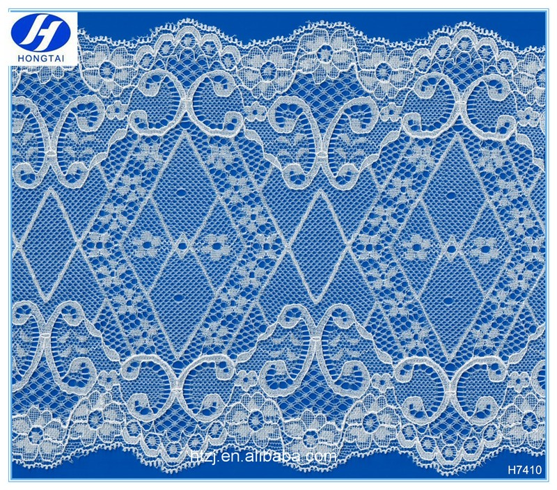 2016 new 100% polyester spandex lace fabric,african cord lace,white lace fabric for dress.Hongtai wholesale