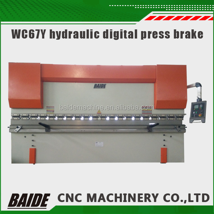 WC67 hydraulic press brake/CNC press bending machine/plate bending machine