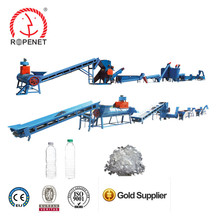 PET Plastic Bottle Flake Recycling Cleaning Line waste pet bottle line