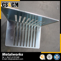 high quality custom made zinc plating steel fabrication parts