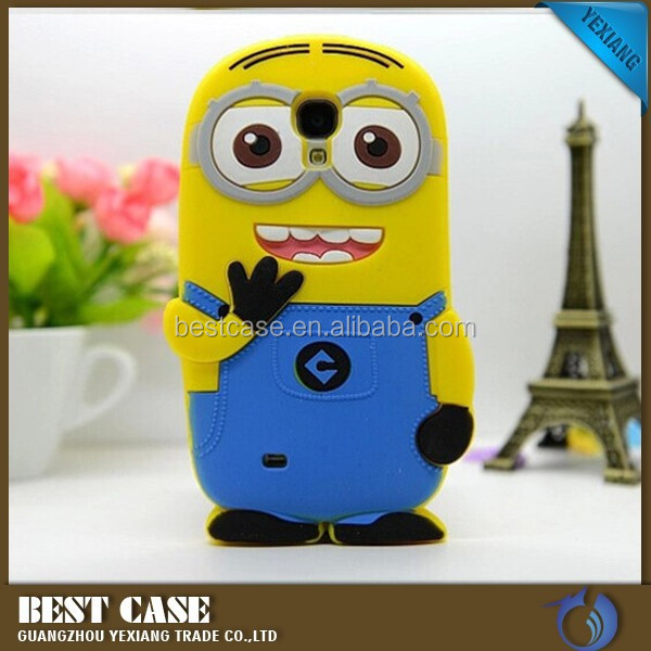 cute design cartoon model 3d silicone case for samsung galaxy s4 i9500