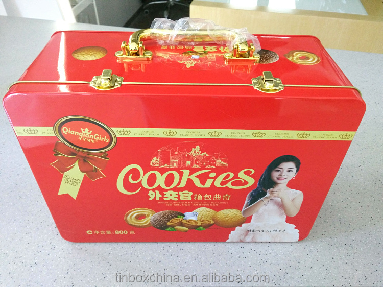 baking cookies gift tin box package with lock