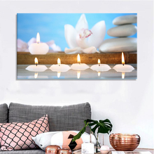 Decorative lighted wall art, led candle canvas painting for home and hotel