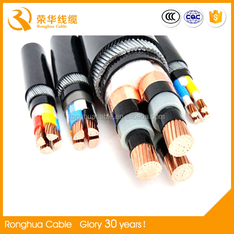 Copper Electrical Power Cable 150mm2 70mm2 25mm2 16mm2 8mm2 2.5mm2 aluminum / Copper/XLPE//SWA/PVC