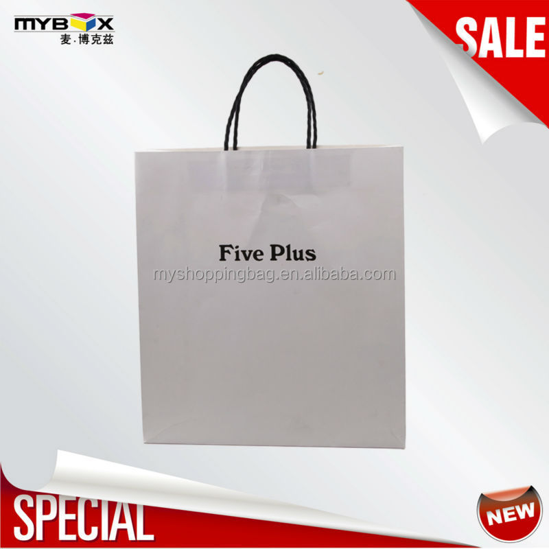 White Paper Bag Products Recycle Eco Friendly Kraft Shopping Handbags