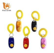 Five Star Cheap Multiple Color Promotional Logo Printed Pet Dog Training Clicker