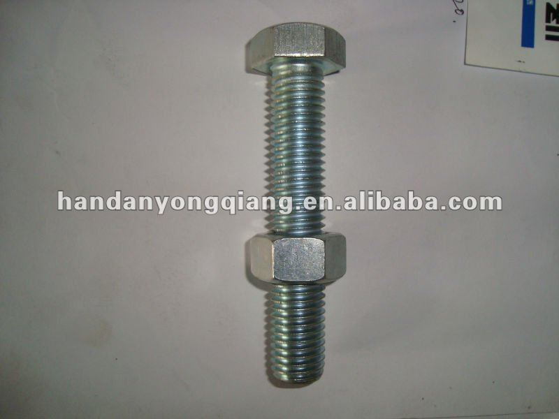 din933 hex head bolt with nut