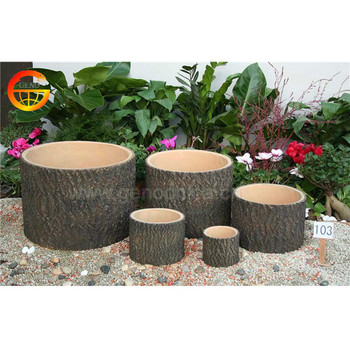 Country style UV resistand wooden flower pot wholesale