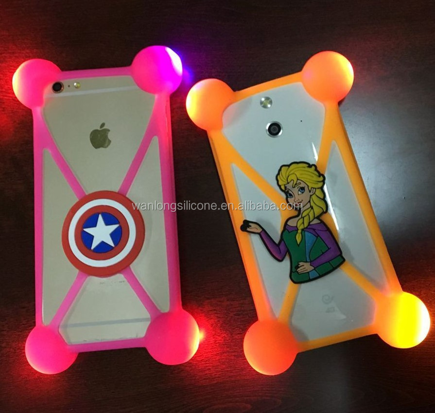 2016 New Call Incoming Flash LED Light Mobile Silicone Phone Case