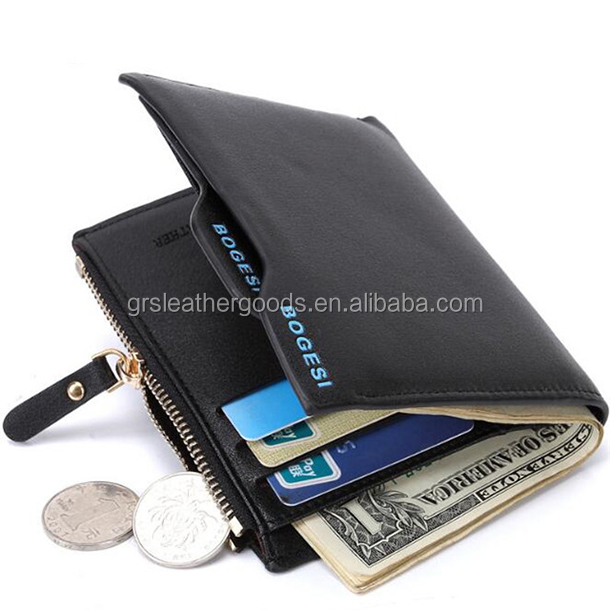OEM Bogesi Wallet 836,Premium multifunctional High-End Bogesi Men's short Leather wallet with zipper Coin Pocket