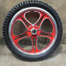 RED 16 INCH ALLOY WHEEL WITH TYRE
