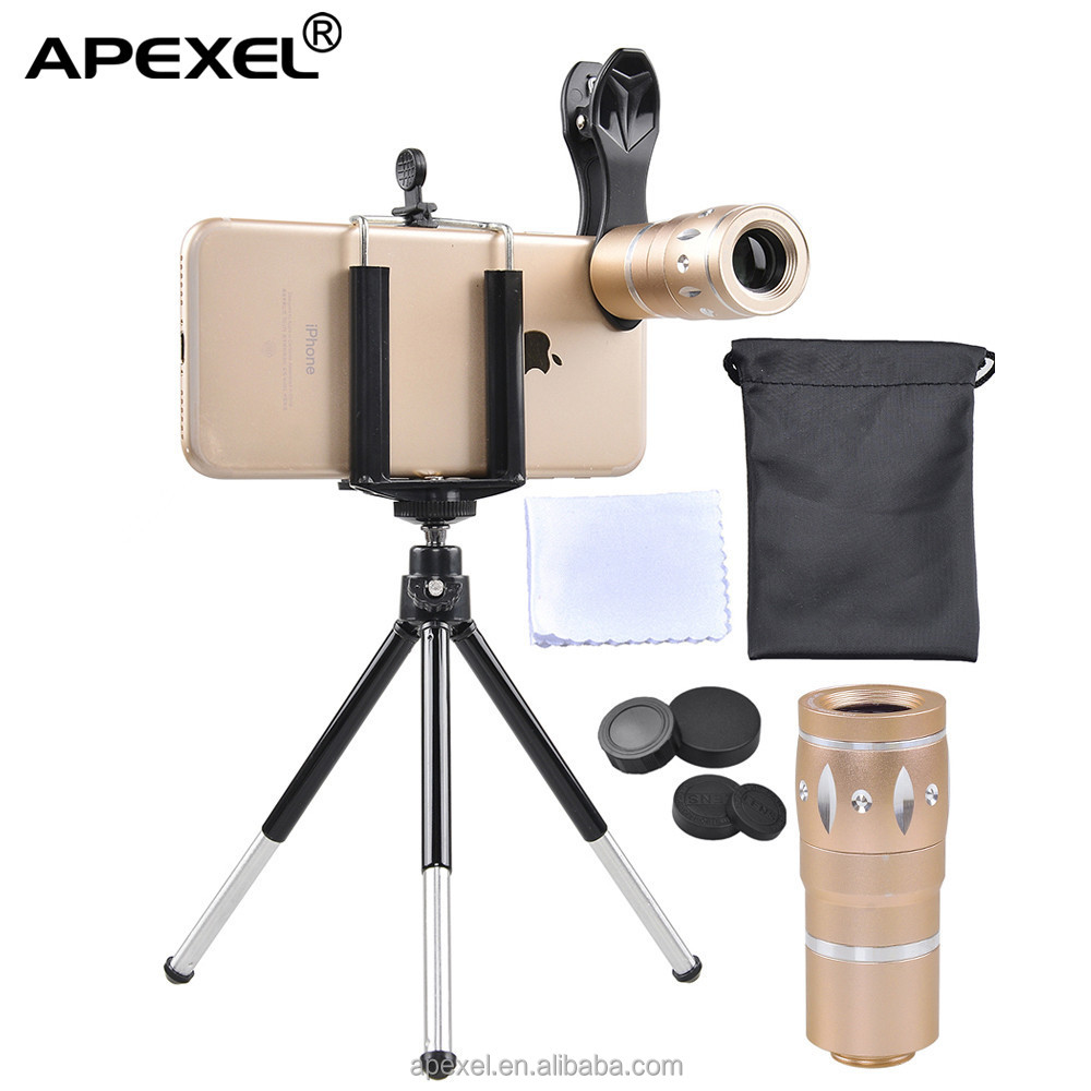 Top seller mobile phone gadgets 2017 in Amazon APL-HS10X 10x zoom lens with mini tripod for smartphone