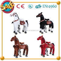 Funny Kids Toy !!!Hot sale mechanical wooden rocking horses for adults