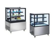 300L Cheap Commercial Standing Cake Showcase Refrigerator Freezer Galss Bakery Display Cabinet With ETL