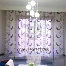 new design polyester elegant kitchen curtain butterfly sheer curtains