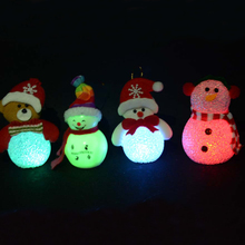 New style christmas village led lights acrylic snowmanchristmas decoration for kids