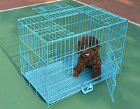 dog cage portable pet cage durable with salver