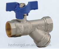 High Quality female/female brass ball valve with filter