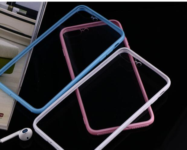 TPU PC Dustproof Shockproof Bumper Frame Skin Cover Case for iPhone 6 4.7""