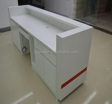 modern reception desk office counter table design,Hotel Solid Surace Reception Table desk counter