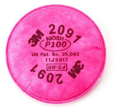 3M 2091 <strong>P100</strong> Particulate Filter 7502 Mask Accessories