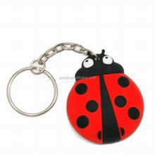 2017 hot fashion 3D pvc metal keychain ring custom rubber soft pvc key chain/Key holder at factory price