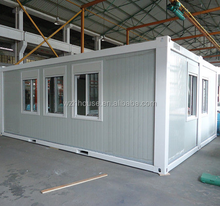 Folding And Movable Flat Packed Modified Container House / Portable Container Home For Camp
