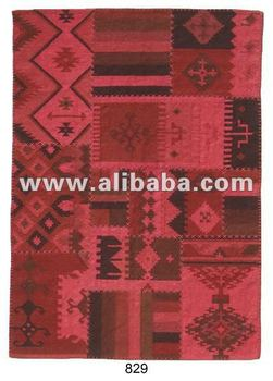 Hand-Made Patch-Work Woollen Kilims ( Flat Weaved )