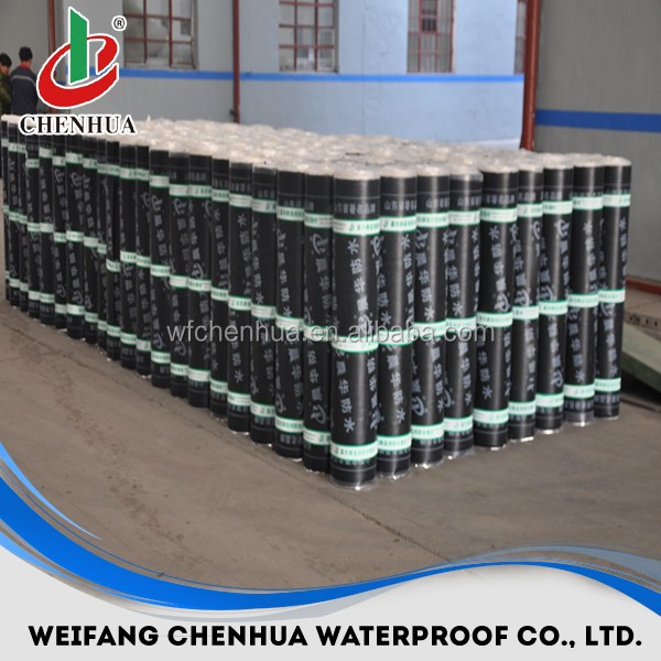 SBS elastomeric underground torch applied waterproof asphalt membrane in China