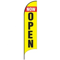 Shop real estate good quality grand opening banner open house teardrop feather sign flag