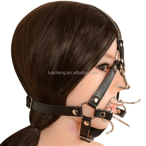 Head Harness Mouth Gag Leather Materials Fetish Adult Mouth Gag
