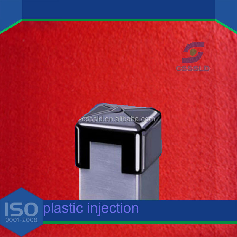 Wholesale supplied furniture fittings plastic square tube end cap for pipe