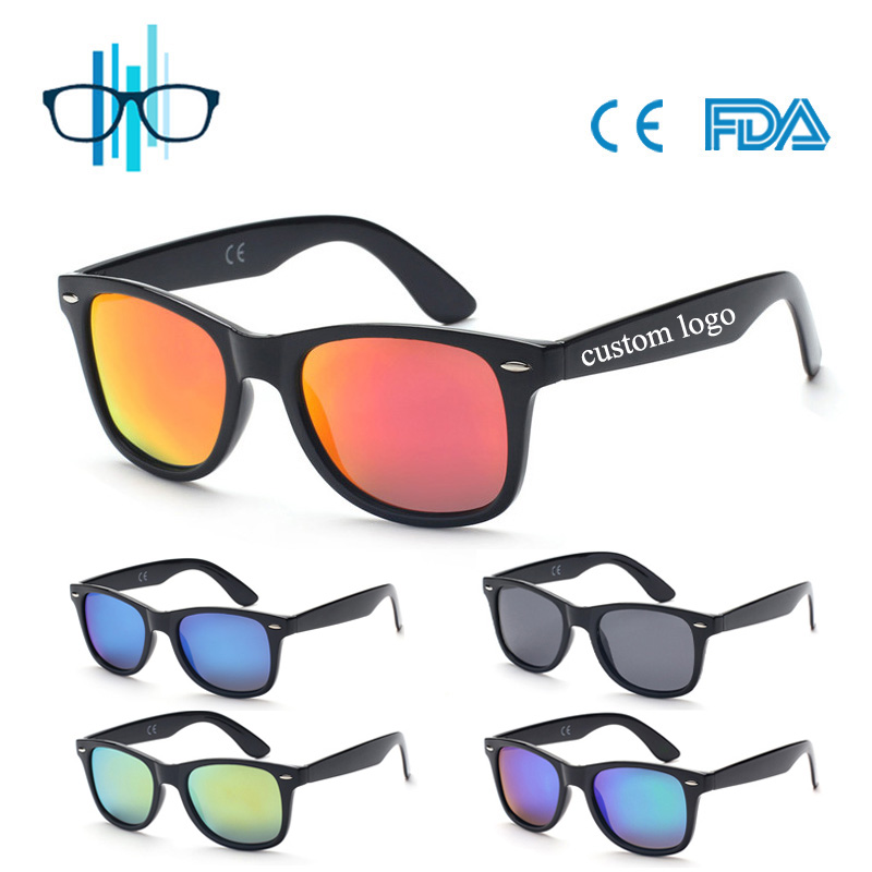 TAC polarized revo mirror plastic sunglasses with custom logo