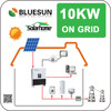 Bluesun best price solar power systems 10kw on grid 10kva solar system for whole house