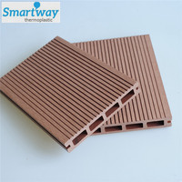 China factory weather resistant hollow composite decking board