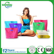 100% ldpe Compostable & Biodegradable Custom Logo Printed Die Cut Packaging Shopping Plastic Bag for Free Sample