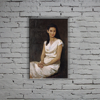 40*80CM frameless modern women portrait handmade oil painting on canvas