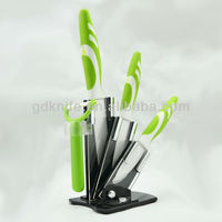 High quality rubber handle color blade kitchen knife,ceramic knife