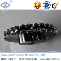 "OEM/ODM standard pitch15.875mm 50Bdouble roller chain36T 5/8"" harden teeth with hub driving sprocket"