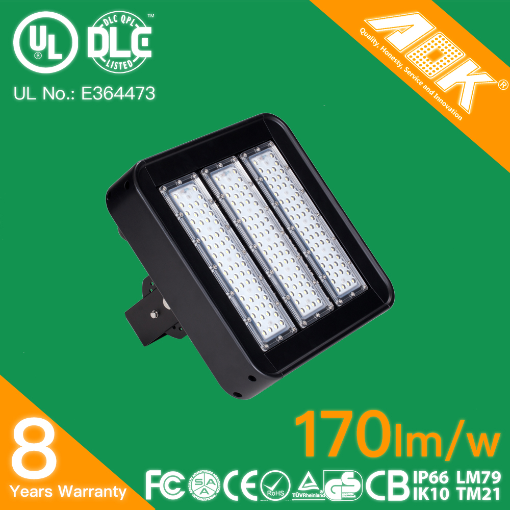 170lm/w UL DLC TUV GS CE RoHS 150w Flood Light LED IP65 Replace 400W MH/HPS
