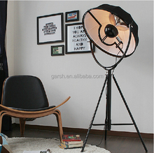 Modern Adjustable Fabric Tripod Fortuny Floor Lamp For Living Room