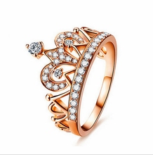 2017 fashion quality crystal latest gold finger ring designs wedding ring gold ring jewelry for women