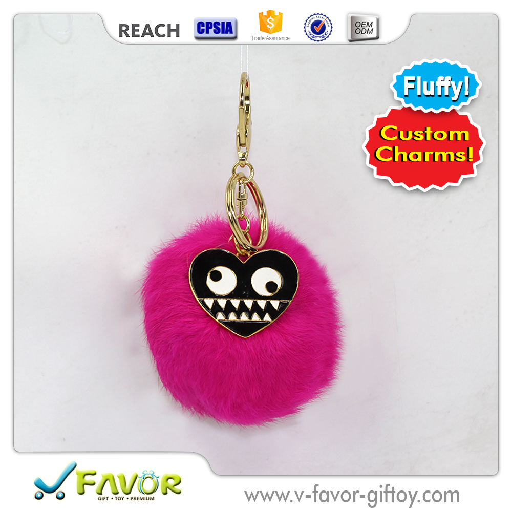 Fashion Fur Ball Cute Metal Charm