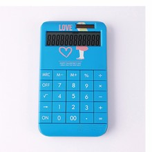 New design customize logo calculator with removable cover office desktop