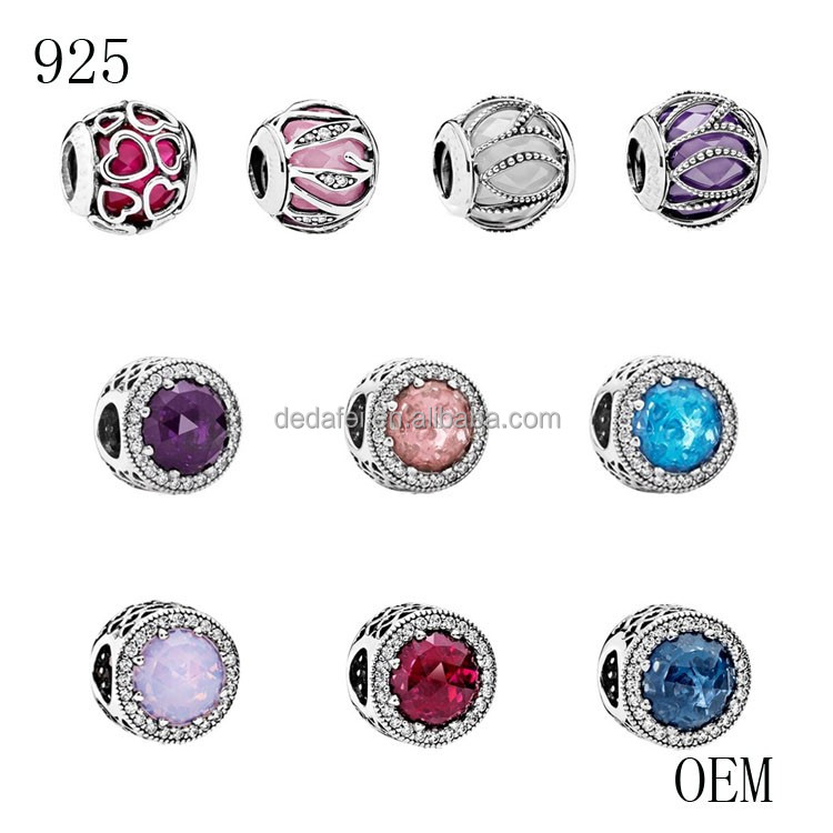 Fashion jewelry 925 sterling silver charm beads 925 silver jewelry DIY charm bracelet