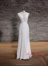 ZM16049 Custom Bridal Gowns with sleeve lace vintage Bohemian Sexy backless V Neck beach wedding dresses boho 2016