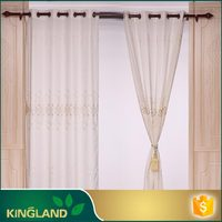 2016 popular new design linenlook macrame embroidery curtain