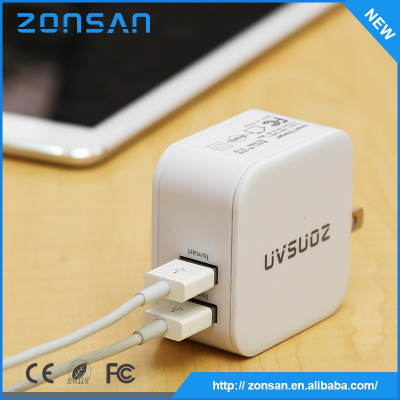 alibaba china supplier Approved 2 port smart phone usb charger