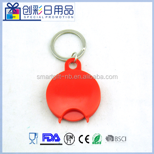 plastic supermarket shopping cart /trolley token coin keyring